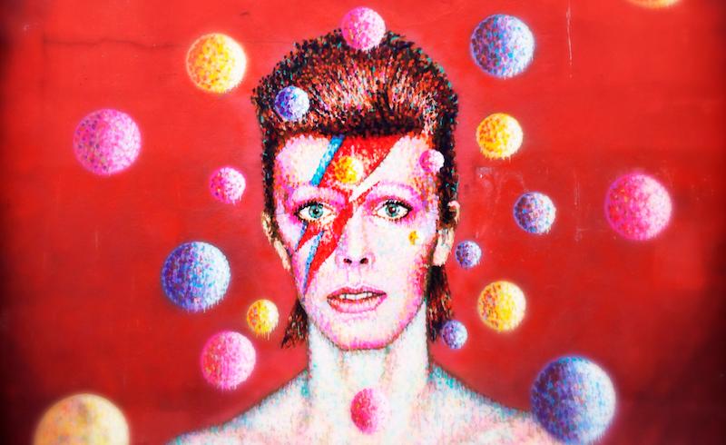 David Bowie mural, Brixton, Louise McLaren