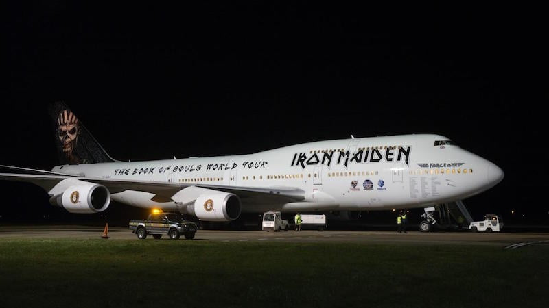 Ed Force One, Cardiff Airport, 17 February 2015, Iron Maiden