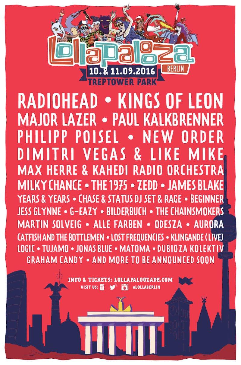 Lollapalooza Berlin 2016 line-up, Treptower Park