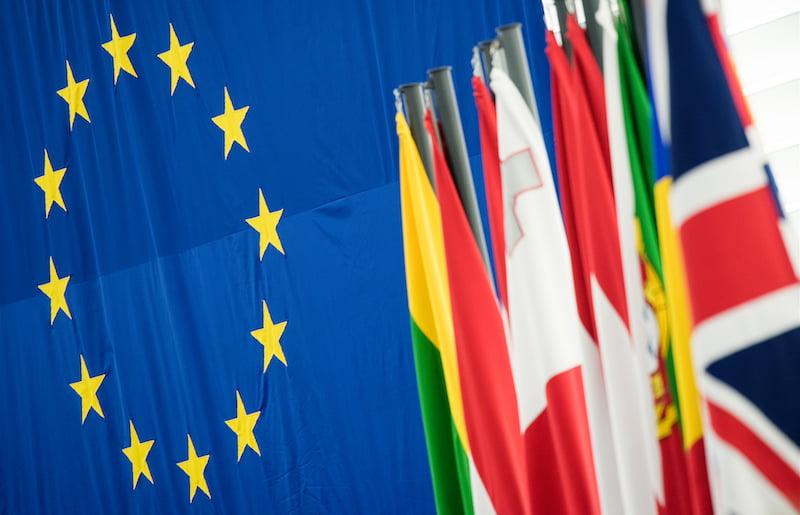 EU flags, Union flag (jack), Brexit, European Parliament