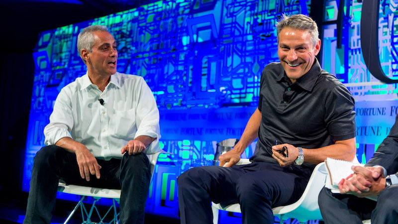 Rahm Emanuel, Ari Emanuel, WME-IMG, Fortune Brainstorm Tech 2015, Aspen