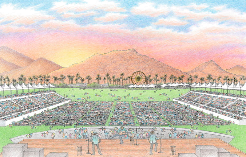 Desert Trip 2016 artist's impression, Goldenvoice, Indio, California