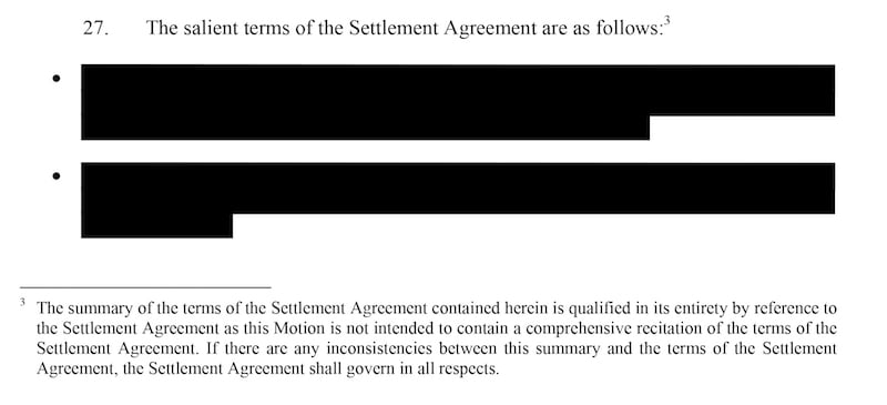 SFX Entertainment/Alda Events settlement agreement
