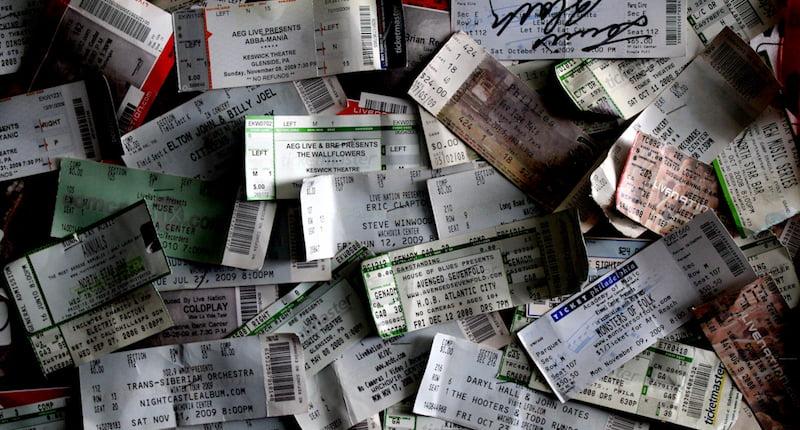 Gig tickets, Rhys Asplundh, ticketing apprenticeship