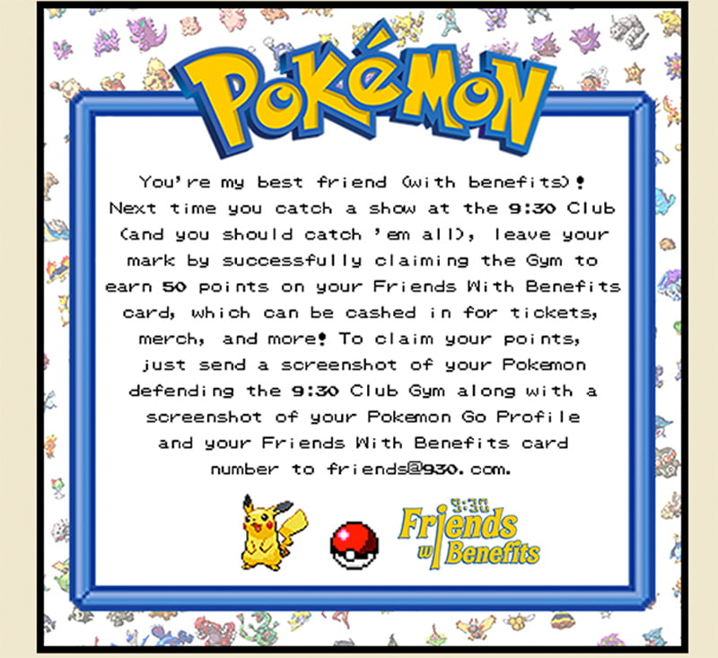 Pokémon Go 9:30 club mail-out