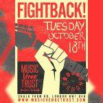 Fightback poster, Music Venue Trust