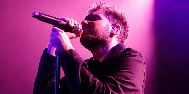Josh Franceschi, You Me at Six, Irving Plaza, 2014, Bill Twomey Photography