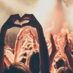 Concert crowd, StubHub/Trendera happiness survey