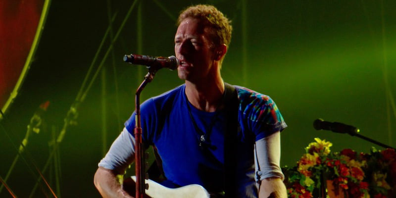 Chris Martin, Coldplay, A Head Full of Dreams tour, Olympic Stadium, Barcelona, June 2016, Daniele Dalledonne