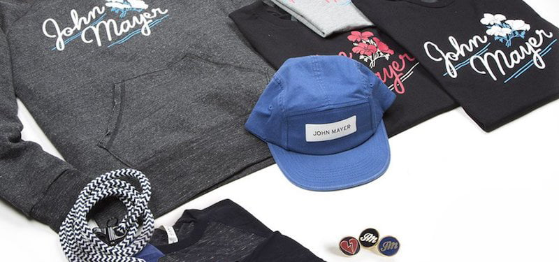 John Mayer spring collection, Musictoday, Hillair Capital Investments