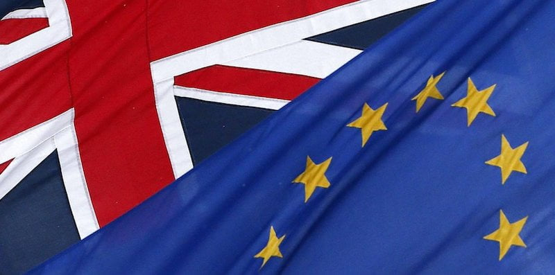 UK-EU flags, Brexit vote, Rich Girard