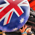 Australian flag beach ball, Big Day Out 2011, Sydney, Eva Rinaldi