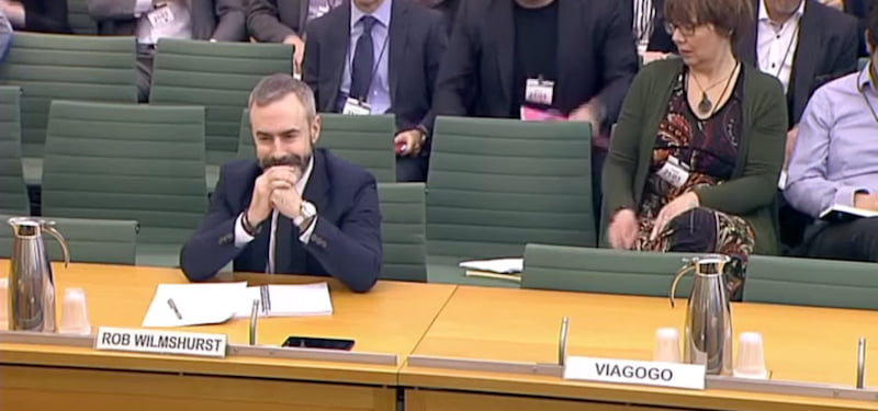 Rob Wilmshurst, See Tickets, empty seat for Viagogo, UK parliament