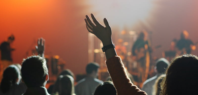 Concert crowd, about the live music industry, live music business, festival industry, festival business