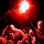 Flare, pyrotechnics, Leeds Festival 2011, Braden Fletcher
