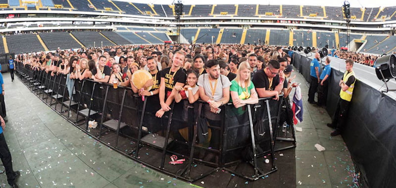 eps barriers, Beyoncé 2016 Formation tour, Commerzbank Arena, Frankfurt