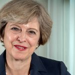 Prime minister Theresa May, official portrait, election 2017