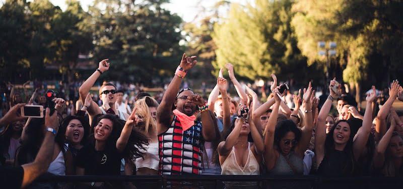 Millennials, concert crowd