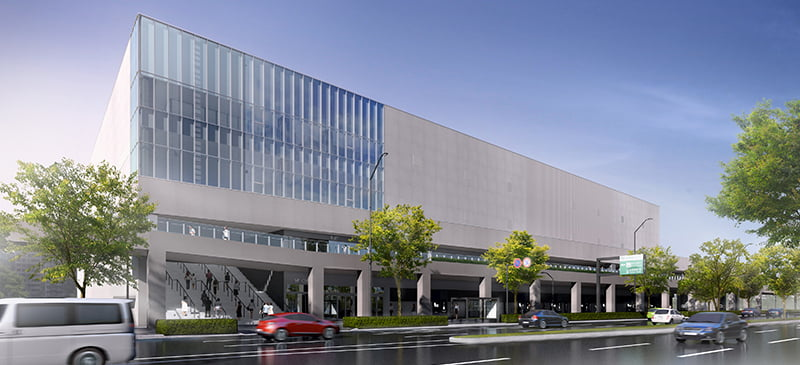 New Pia arena, Yokohama, artist's impression