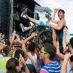 Fan in wheelchair, Veld Music Festival 2012, Toronto, STAR guide to accessible ticketing