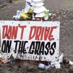 'Don't drive on the grass', A Greener Festival (AGF)