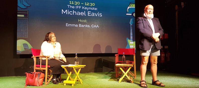 Emma Banks, Michael Eavis, International Festival Forum (IFF) 2017