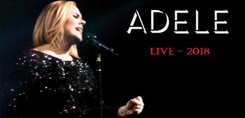 Adele Live 2018 graphic