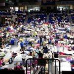 Hurricane Irma evacuees, Alico Arena, Florida