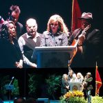 Alison Krauss and the Cox Family perform at the Route 91 Harvest vigil in Nashville