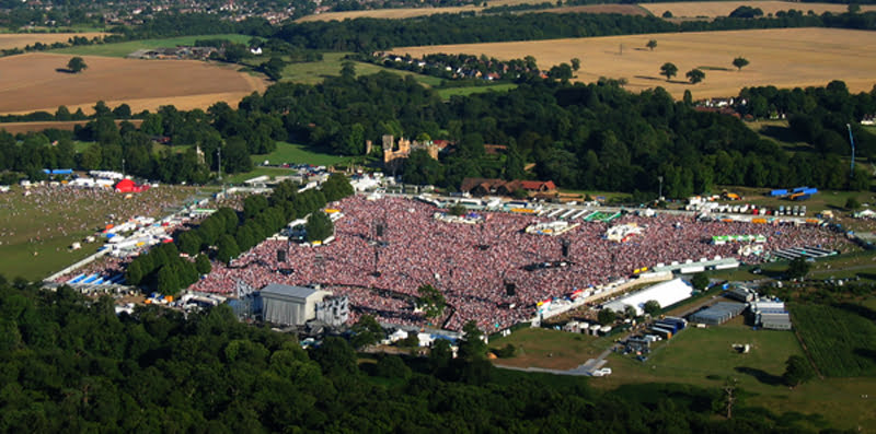 Robbie Williams' record-breaking 2003 Knebworth shows were seen by 375,000 people