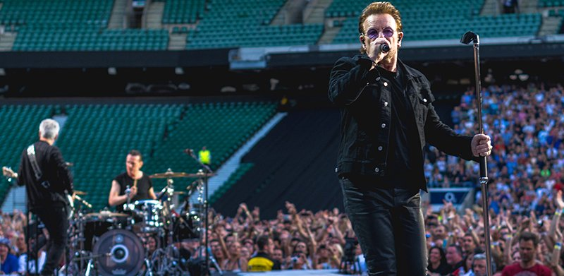U2 played Twickenham last year