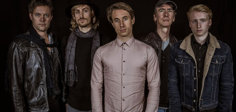 Jasper Roelofsen (centre), pictured with new band the Last Element, was one of BMU's victims
