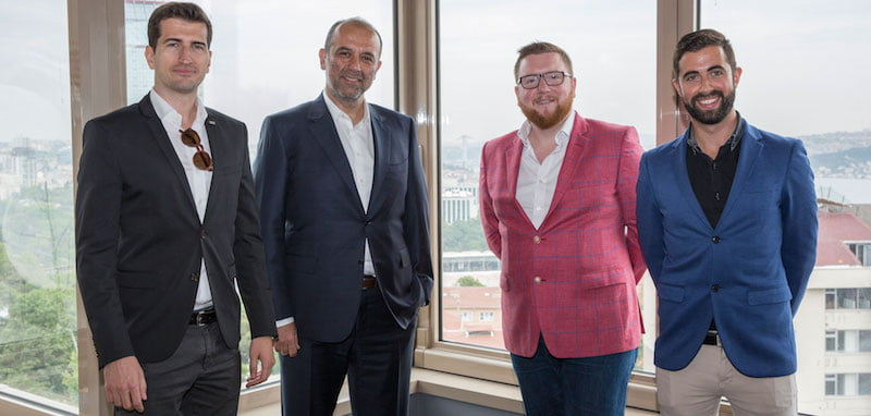 Cemil Demirok (CEO, PIU); Basar Sen (PIU Managing Partner); David Hutchinson (Selladoor Executive Creative Producer); Phillip Rowntree (Selladoor Executive Commercial Producer)