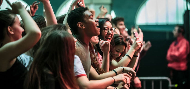 Fans at the recent Printemps de Bourges festival in Cher