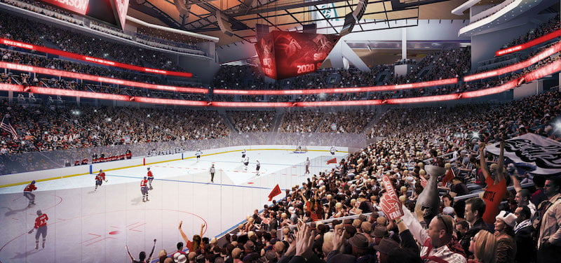 Elevate will sell premium seating at KeyArena in Seattle, which OVG is redeveloping for an ice-hockey team