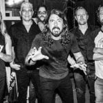 Foo Fighters backstage