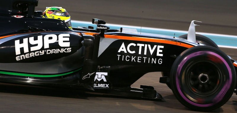 Active Ticketing, Force India, Abu Dhabi Grand Prix 2016