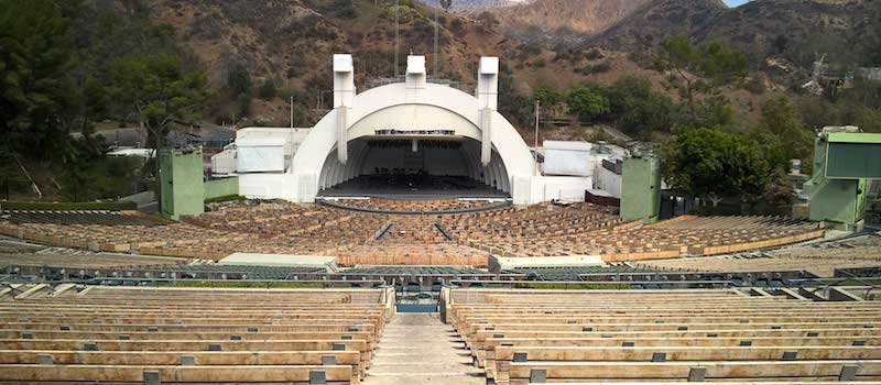 Hollywood Bowl amphitheatre, one of the many large venues Rukkus offers a Seat360 view of