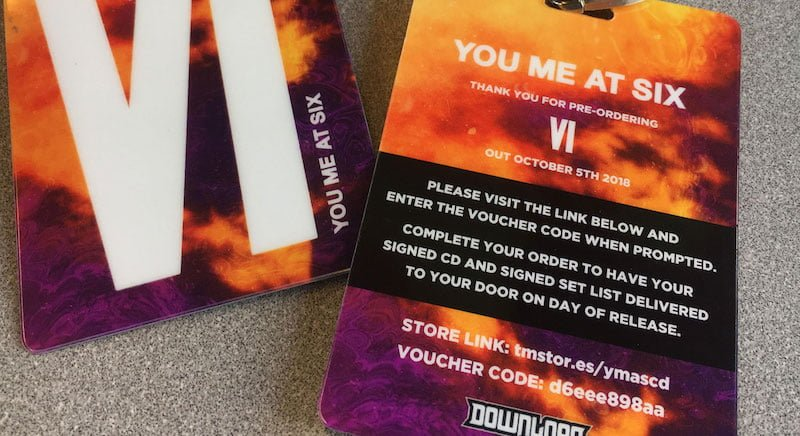 You Me at Six laminates, Download Festival 2018, Townsend Music