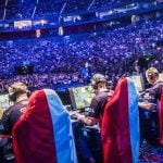 Counter-Strike: Global Offensive players at the ESL One tournament at Lanxess Arena, Cologne