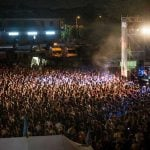 Festivalgoers at the Rototom Festival in Benicassim