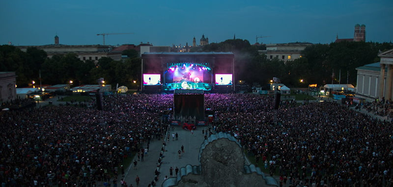Rockavaria 2018 at the Königsplatz was attended by 35,000 people
