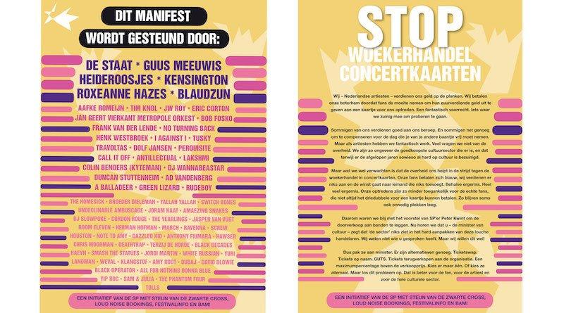 Stop Woekerhandel Concertkaarten