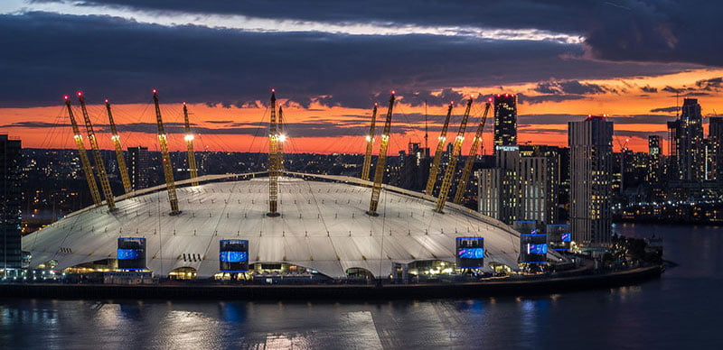 The O2 in London is the world's most popular entertainment venue