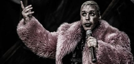 Till Lindemann performs with Rammstein in France in 2013