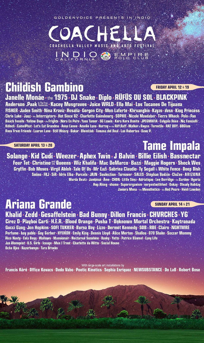 Coachella 2019 line-up