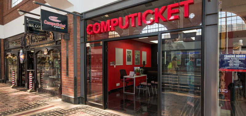 Computicket sells tickets online and at physical outlets, like this one at the Cape Town Waterfront