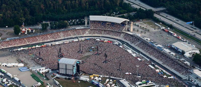 Ed Sheeran played to 100,000 people at the Hockenheimring with FKP Scorpio