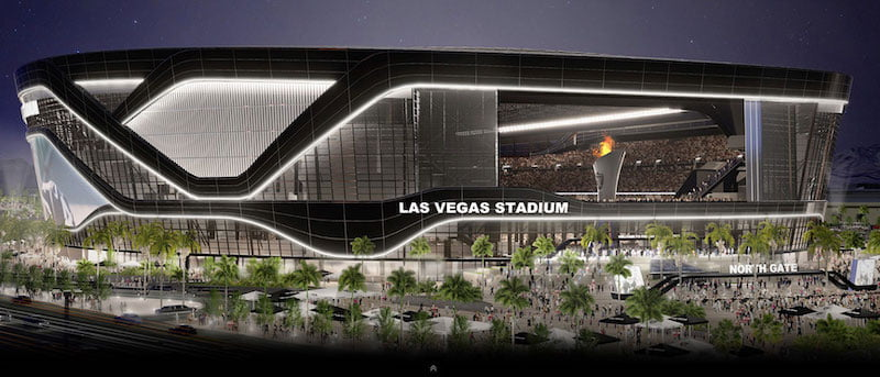 An artist's impression of the Las Vegas Stadium