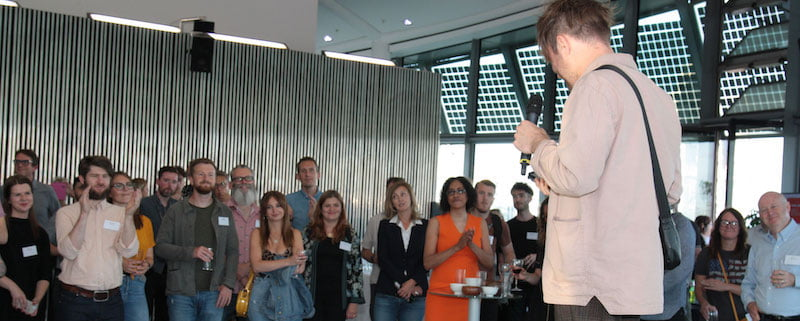 Rou Reynolds addresses MVT book launch
